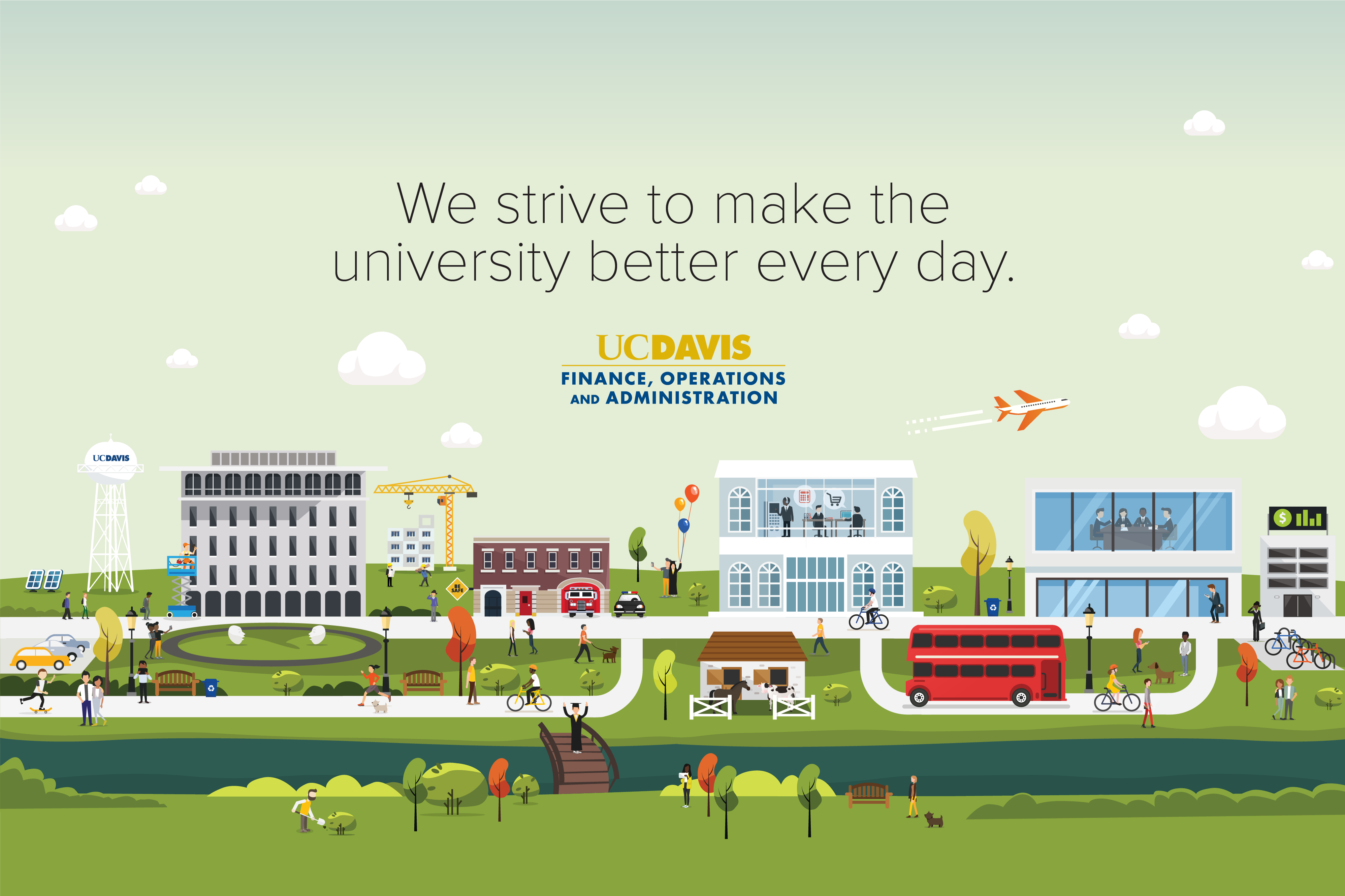 uc davis campus illustration