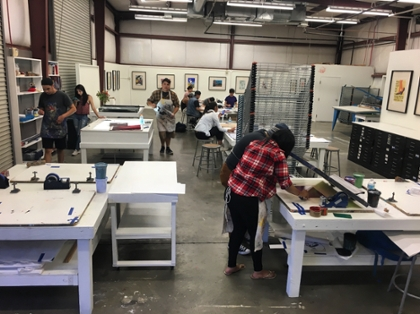 Photo of students working.
