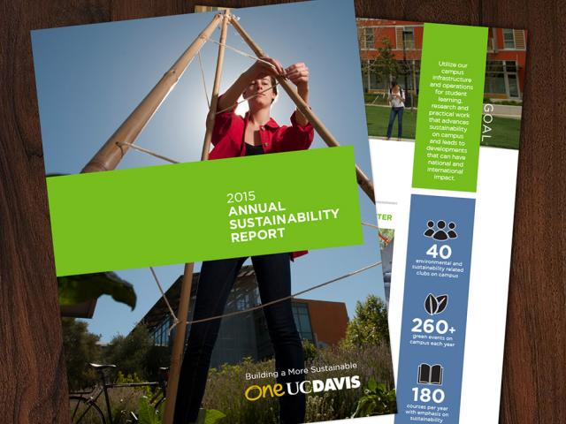 flat lay of a publication prepared by foa communications at uc davis