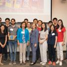 Image of the BIOEnvironmental Engineering Lab receiving a sustainability award.